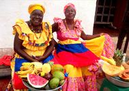 Palenqueras en Cartagena de Indias