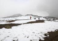 Nieves perpetuas en el Nevado de Ruiz, Manizales, en el Eje Cafetero de Colombia