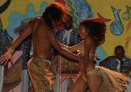 Baile en la playa en San Andrés