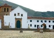 Plaza Mayor de Villa de Leyva, en el departamento de Boyacá (Colombia)