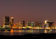 Panorama nocturna de Panamá Ciudad