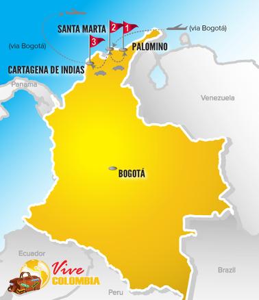 Viajes a Colombia | Mapa Caribe Especial