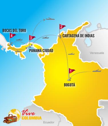 Viajes a Colombia | Mapa Colombia y Panamá 2017