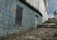 Calle de las Trampas, típico paisaje urbano en el centro histórico de Honda, cerca del Eje Cafetero de Colombia