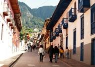 Cuesta del barrio de La Candelaria, el centro colonial de Bogotá