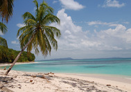 Playa de Isla Zapatillas en Bocas del Toro, Panamá