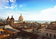 Vista panorámica sobre los tejados de Cartagena de Indias
