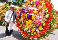 Silletero en la feria de flores de Medellin