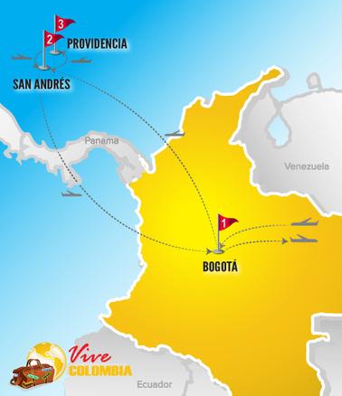 Colombia Viajes | Mapa Bogota e islas